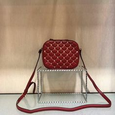 Valentino Rockstud Spike Camera Bag in Lambskin Leather