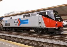 """Amtrak GE """"GENESIS"""" Phase I Heritage P42DC # 156 in Los Angeles, CA"""
