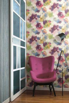 Modern Art Wallpaper Paint Stripes, Modern Art, Chair, Wallpaper, Painting, Furniture, Home Decor, Decoration Home, Room Decor