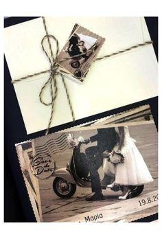 ΠΡΟΣΚΛΗΤΗΡΙΟ ΓΑΜΟΥ ΑΣΠΡΟΜΑΥΡΟ VINTAGE POSTCARD (BIN 2167) Our Wedding, Dream Wedding, Wedding Ideas, Wedding Invitations, Vintage, Wedding Invitation Cards, Vintage Comics, Wedding Ceremony Ideas, Primitive