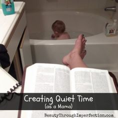 Making time (when there is no time) to read the Bible. Great post! This can be such a challenge when the kids are tiny!!!!