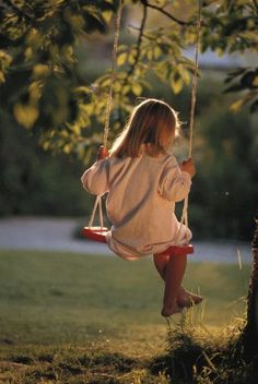This brings back memories of when my girls were little and they loved to swing and sing. I myself still love to swing.