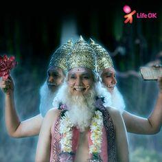 Lord Brahma, creator of the Universe. Watch him in LifeOK's Mahadev