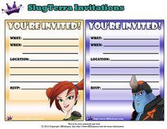 Trixie and Kord Printable invitations ~ Free Slugterra Party Printables, and Crafts | SKGaleana #Slugterra