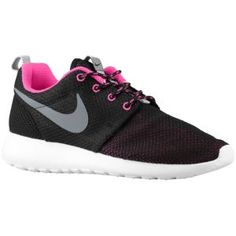 22b2dfef7b3e Nike Roshe Run - Women s - Black Cool Grey White Pink Foil Running