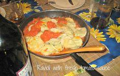 Carolyn in Carolina - Homemade Ravioli with fresh tomato sauce