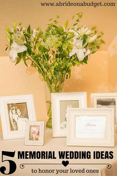 How are you honoring your loved ones at your wedding?   This post from www.abrideonabudget.com has five great ideas of ways to do that.
