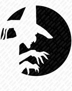 Image result for wicked witch pumpkin stencil