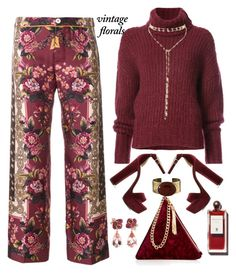 """""""Vintage Florals and Velvet"""" by honkytonkdancer ❤ liked on Polyvore featuring F.R.S For Restless Sleepers, Street Level, BY. Bonnie Young, Steve Madden, Orduna Design, Anyallerie, vintage, fallfashion, velvetbag and velvetpumps"""