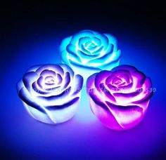 glowing rose pool lights - Google Search