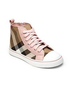Burberry - Little Kid's & Kid's Check High-Top Sneakers