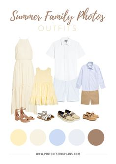Summer Family Photo Outfit Ideas #family #picture #summer #outfit #ideas #familypicturesummeroutfitideas Classic styles and eye-catching colors, these outfit ideas will have everyone looking picture perfect for summer family photos this year! Summer Family Portraits, Spring Family Pictures, Family Pictures What To Wear, Family Portrait Outfits, Summer Photos, Beach Portraits, Family Pics, Family Posing, Summer Photo Outfits