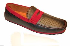 Portabella Loafer Dress Casual Men's Black Red lining Shoes Size 12 US Moccasins #Portabella #LoafersSlipOns