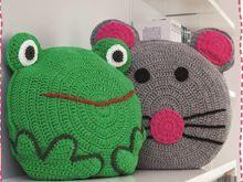 Tierkissen Maus & Frosch Häkeln