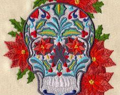 Dulce calavera cráneos cultura mexicana por EmbroideryEverywhere