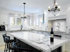 Among The Hottest Trends In Home Style Today Is Rock Kitchen Counter Tops These Sy Engineered Stone