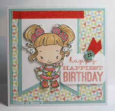 #handmade #birthday #card featuring #ctmhzoe papers from @CTMH and stamped image from @thegreetingfarm