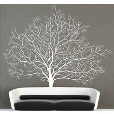 White Birch Tree Wall Decal Branch Forest Decals Large Tree Wall Sticker Mural…