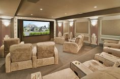 133 Home Theater Decor for Home Better Home Entertainment Home Cinema Room, Home Theater Decor, Best Home Theater, At Home Movie Theater, Home Theater Rooms, Home Theater Design, Basement Movie Room, Home Entertainment, Better Homes