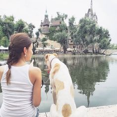 With my beautiful hungarian greyhound, Dior.   Magyar agár Budapest Hungary  Városliget