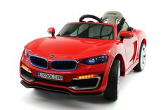 Cool Racer 12V Electric Kids Ride-On Car with R/C Parental Remote | Red