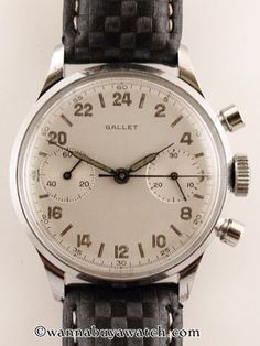 Watches Ideas Gallet Military Chronograph Discovred by : Todd Snyder Dream Watches, Luxury Watches, Cool Watches, Watches For Men, Rolex, Beautiful Watches, Vintage Watches, Chronograph, Retro