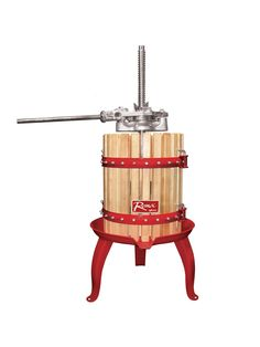 Check out this fruit presser! Take at-home wine making to a professional level!
