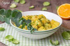 Kartoffel-Rosenkohl-Curry mit Orangensaft