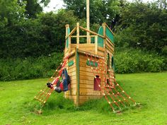Galleon Playship and Climbing Frame by Playhouse Specialist Playways   Playways - Playhouses and Climbing Frames