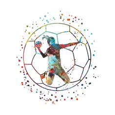 Check out this awesome 'Girl+handball' design on Bear Wallpaper, Soccer Ball, Sketch, Awesome, Check, Design, Art, Handball, Sketch Drawing