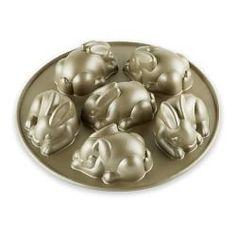 Cake Pans, Cupcake Pans & Cake Baking Pans | Williams-Sonoma Nordic Ware Mini Bunny Cakelet Pan $36.95