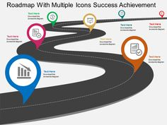 Buy the highest quality predesigned roadmap with multiple icons success achievement flat powerpoint design PPT templates, ppt slide designs, and presentation graphics, images and themes. Free Powerpoint Templates Download, Powerpoint Design Templates, Powerpoint Themes, Powerpoint Template Free, Powerpoint Presentations, Cv Template, Power Points, Strategic Planning Template, Visual Resume