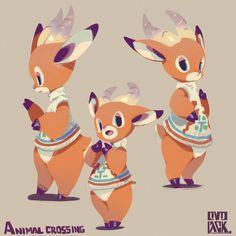 The Art of Ryota Murayama Animal Crossing Fan Art, Animal Crossing Characters, Animal Crossing Memes, Cute Characters, Cute Drawings, Animal Drawings, Anime Animals, Cute Animals, Character Concept