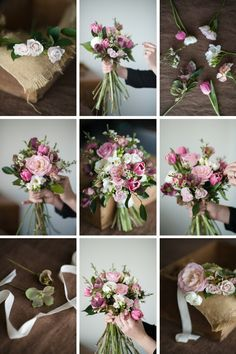 Wedding Bouquet Recipe ~ A Pretty Posy of Pinks magdalenhill.co.nz