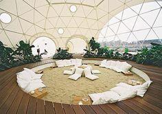 Centro de un domo geodesico