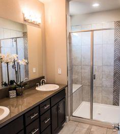 Arizona Tile provides a range of natural stone mosaic tiles for commercial tiling projects including basketweave, hexagon, pebble, herringbone. Stone Mosaic Tile, Mosaic Tiles, Mosaics, Bathroom Ideas, Shower Ideas, Grey Chevron, Decorative Tile, Quartz Countertops, Tile Patterns