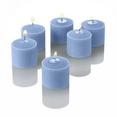 Set of 288 votive candles in Light Blue via Linens and Things