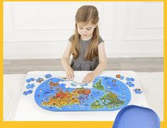Our World Map Floor Puzzle – 100 Pieces World Map Puzzle, Kids World Map, Floor Puzzle, Puzzle Box, Puzzle Games For Kids, Puzzles For Kids, Steam Toys, Fun Illustration, Montessori Materials