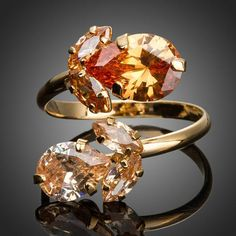 Champagne Flowers Ring