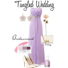 """""""Tangled Wedding~ Bridesmaid"""" by courtdawggg on Polyvore"""