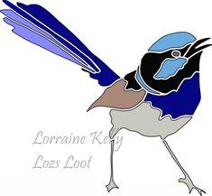 Blue Wren Australian Bird Wattle Scan N Cut FCM PNG SVG Files ScanNCut Projects