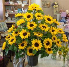 Sunflower arrangements for ceremony
