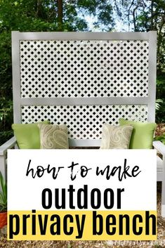 We are getting ready for summer with this diy wishlist. Fun DIY outdoor project for for your backyard, front porch or patio. Keep prying neighbors eyes away with this diy privacy bench. Industrial Pot Racks, Hairpin Dining Table, Craftsman Style Doors, Three Season Room, Mother Daughter Projects, Kitchen Banquette, Outdoor Privacy, How To Make Curtains, Diy Bench
