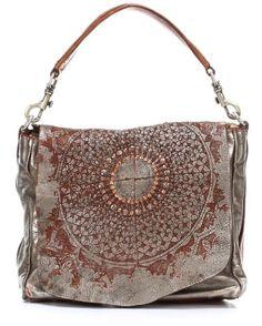 Washed ethnic bag