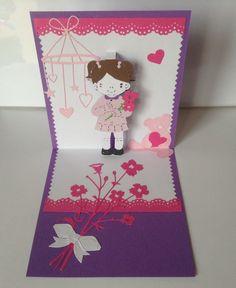 Kirigami fille modèle merci nounou  Carte de remerciements pour sa nounou
