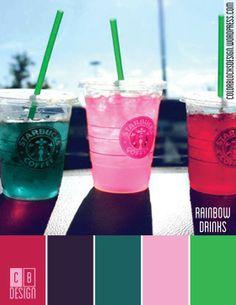Rainbow Drinks | Color Blocks Design