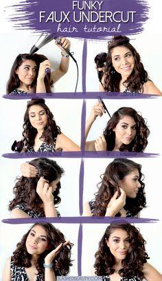 Funky Faux Undercut Hair Tutorial | Slashed Beauty #HeartMyHair #ad