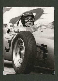 FRENCH GP ROUEN 1962 #30 PORSCHE 804 DAN GURNEY WON ORIGINAL DEBRAINE PHOTOGRAPH