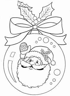 Christmas Ornament Coloring Page, Christmas Coloring Sheets, Printable Christmas Coloring Pages, Christmas Printables, Christmas Activities, Christmas Colors, Christmas Art, Christmas Ornaments, Father Christmas