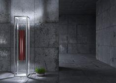 Lámpara de pie LED en acero de estilo moderno VITRO by BODEMA diseño Assenzio Luce